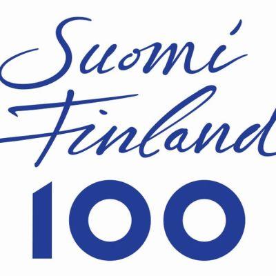 Suomi 100 -tunnus.
