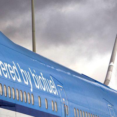 Biopolttoainetta käyttävä lentokone.