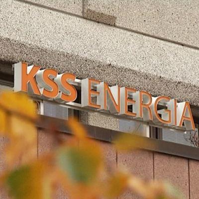 KSS Energia kyltti yhtiön toimiston seinässä
