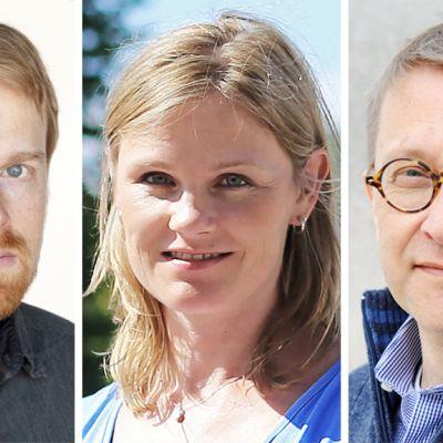 Petri Raivio, Heidi Lipsanen ja Tom Kankkonen.
