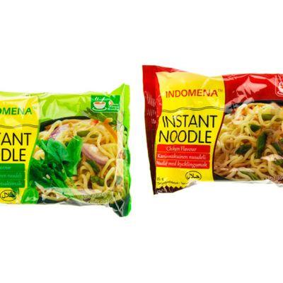 Indomena Instant Noodle -nuudeleita.