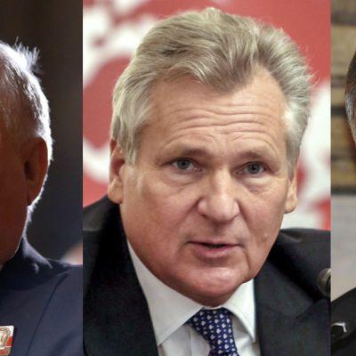 Lech Walesa, Alexander Kwasniewski ja Bronislaw Komorowski