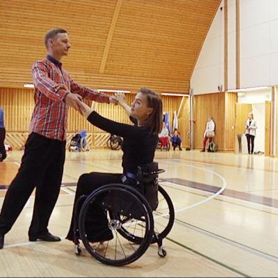 Timo Pyykkönen ja Tuuli Harju ovat tanssineet yhdessä pari vuotta