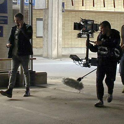Rikossarja Sorjonen kuvaukset meneillään Lappeenrannassa.