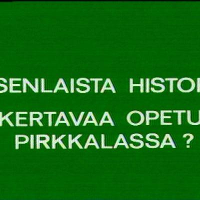 Kuvakaappaus tv-ohjelman alusta.