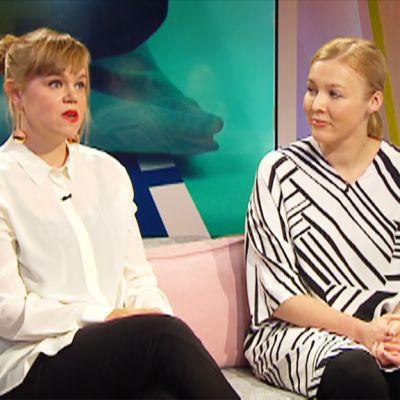 Martta Louekari ja Tiina Alahuhta-Kasko.