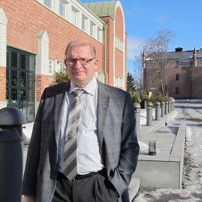 Metalliliiton puheenjohtaja Riku Aalto Pietarsaaressa