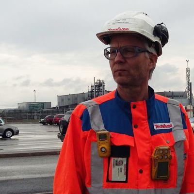 Terrafamen kaivoksen työntekijöiden pääluottamusmies Jukka Vetola.