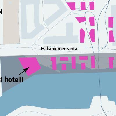 Helsingin kaupunkisuunnitteluviraston mukaan Helsinkiin tarvitaan uusia hotelleja.