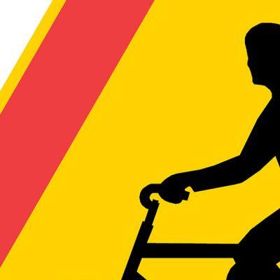 Suurennos pyöräilijöitä-varoitusmerkistä