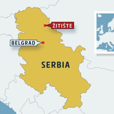 Serbian kartta