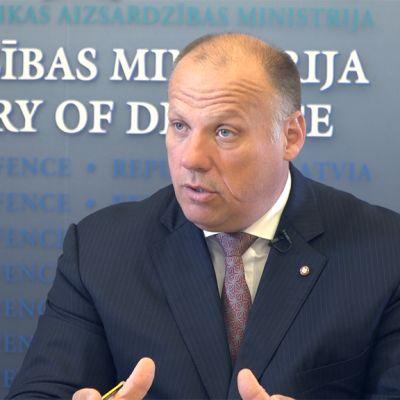 Latvian puolustusministeri Raimonds Bergmanis
