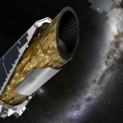 Nasan taiteilijan näkemys Kepler -luotaimesta avaruudessa.