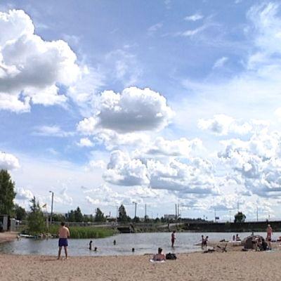Hietasaaren uimaranta Vaasassa.