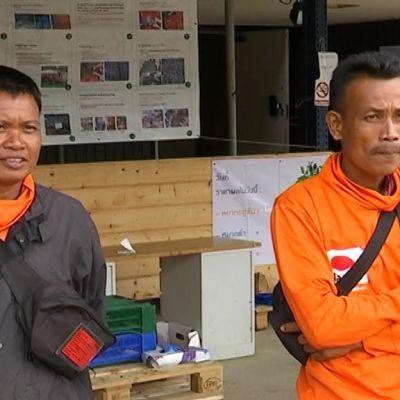thaimaalaiset marjanpoimijat Kemijärvellä