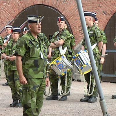 Sotilassoittokunnan soittajia