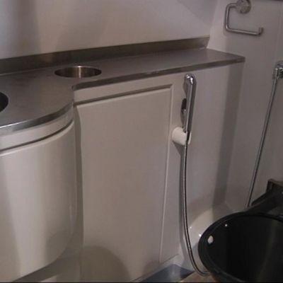 Moduulina valmistettu WC.