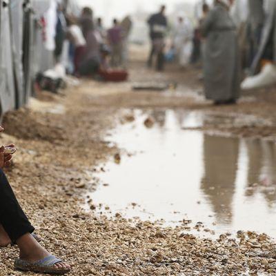 Syyrialaistyttö pakolaisleirillä Sanliurfassa Turkissa.
