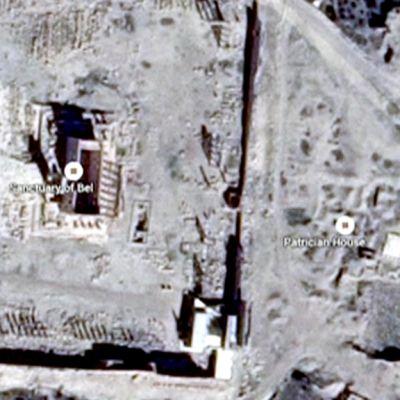 Palmyran tuhottu temppeli.