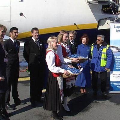 Ryanairin ensilento Lappeenranta - Milano