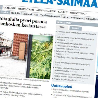 Ensimmäisenä tahattomasta aikuisviihteestä kertoi Etelä-Saimaa -lehti.