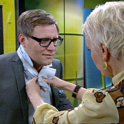 Pia Melander ja Mikko Haapanen.