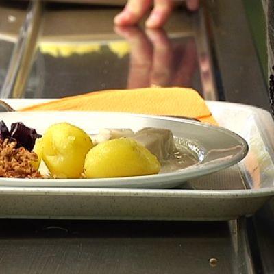kouluruokailu kalaa lautasella perunoita Lahti