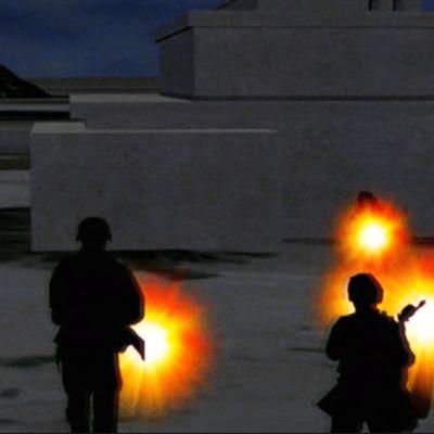 Kuva panttivankien vapautus -animaatiosta.