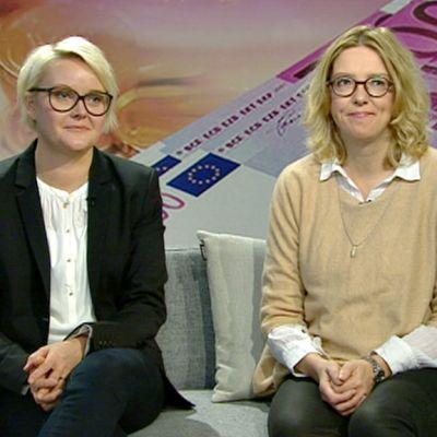 Ninni Myllyoja ja Emilia Kullas.