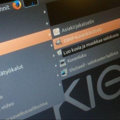 Ubuntu Linux, kuva tietokoneen näyttöruudulta