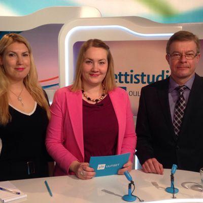 Yle Oulun Nettistudion vieraina Katja Hänninen ja Antti Rantakangas.
