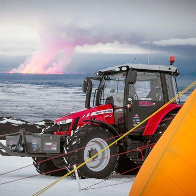 Etelänavalle lähtevää kalustoa testataan Islannissa