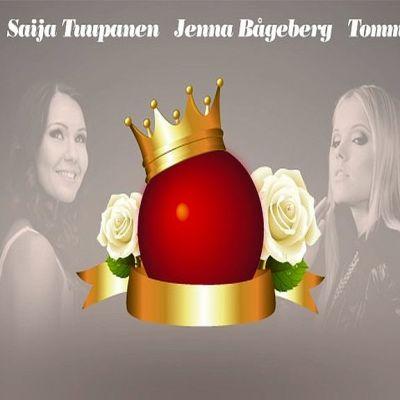 Tangokuninkaalliset Arja Koriseva, Saija Tuupanen, Jenna Bågeberg ja Tommi Soidinmäki tanssittavat Tapiolassa 6. marraskuuta.