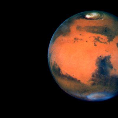 Planeetta Mars Hubble-avaruusteleskoopin kuvaamana.