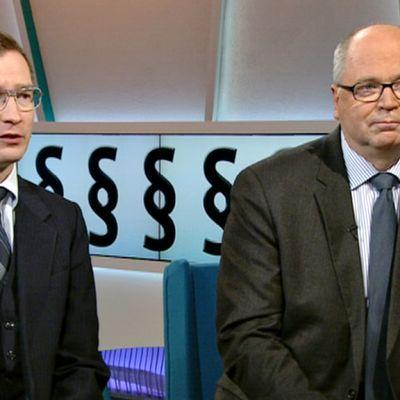 Oras Tynkkynen ja Eero Heinäluoma.