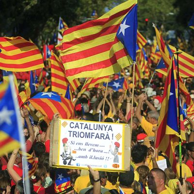 Katalonian lippuja.
