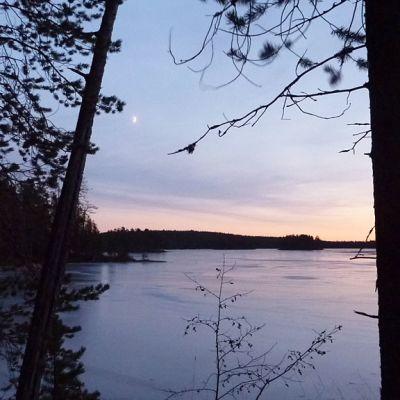 Järvimaisema Hossassa Suomussalmella.