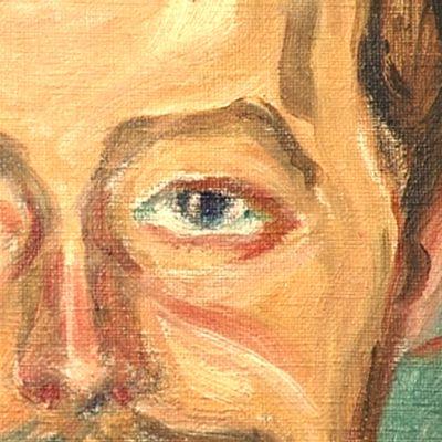 Yksityiskohta Edvard Munchin maalauksesta.