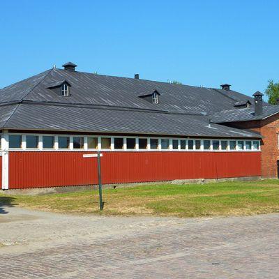 Kehruuhuone Lappeenrannan linnoituksessa.