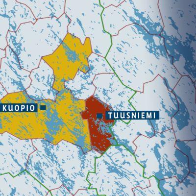 Kuopio-Tuusniemi -kartta
