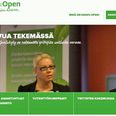 Kasvu Open nettisivu.