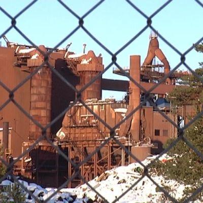 Koverharin terästehdas on ollut tyhjillään kesästä 2012 lähtien.