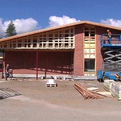 Asuntoja rakennetaan Liperissä.