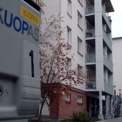 Kuopaksen opiskelija-asuntoja Pyöräkadulla Kuopiossa.
