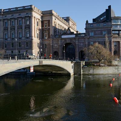 Ruotsin Tukholmassa sijaitseva parlamenttitalo.