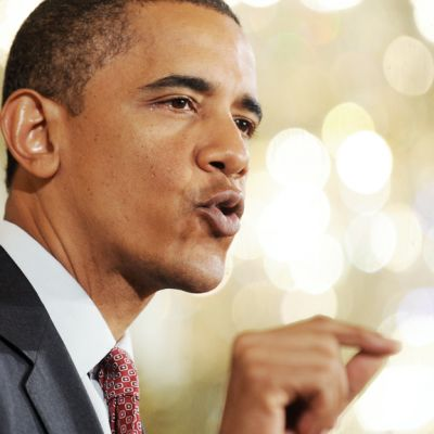 Barack Obama puhui Valkoisessa talossa 22. kesäkuuta 2010 uudesta terveyslainsäädäntöön kuuluvasta kohdasta.