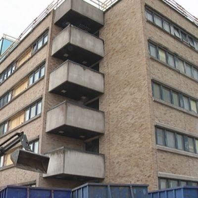 Porin kaupunginsairaala remontti ulkoa peruskorjaus huhtikuu 2013