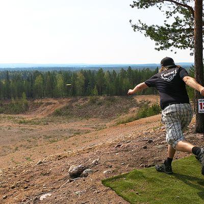 Frisbeegolf Ville Ollonqvist Mäntyvaara Rovaniemi