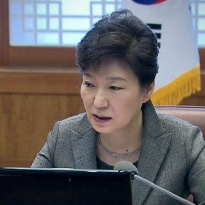 Etelä-Korean presidentti Park Geyn-Hye 21. huhtikuuta 2014.