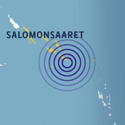 Salomon-saarten kartta.